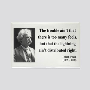 Mark Twain 33 Rectangle Magnet